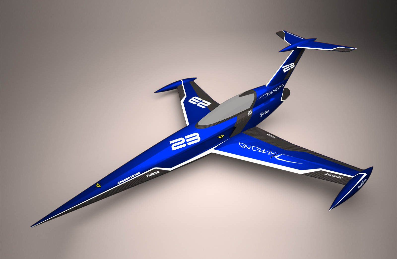 Diamond blue racing ARF Aviation Design