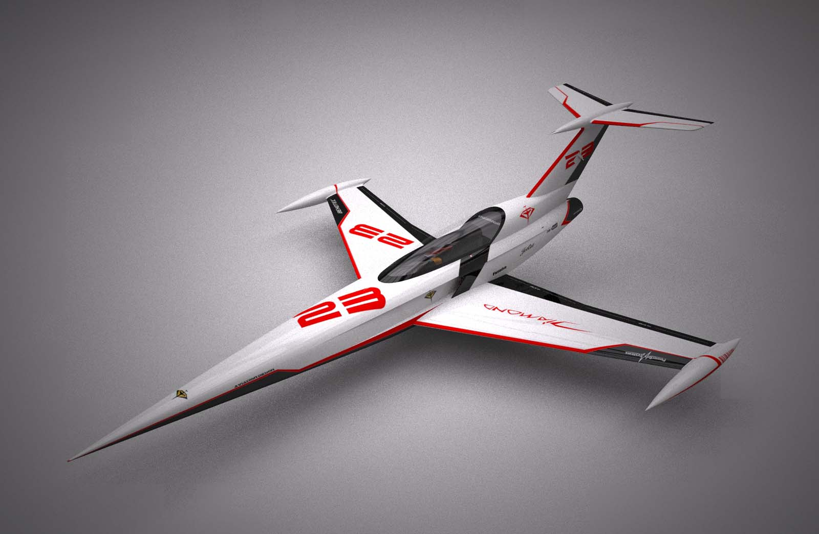 Diamond white racing ARF Aviation Design