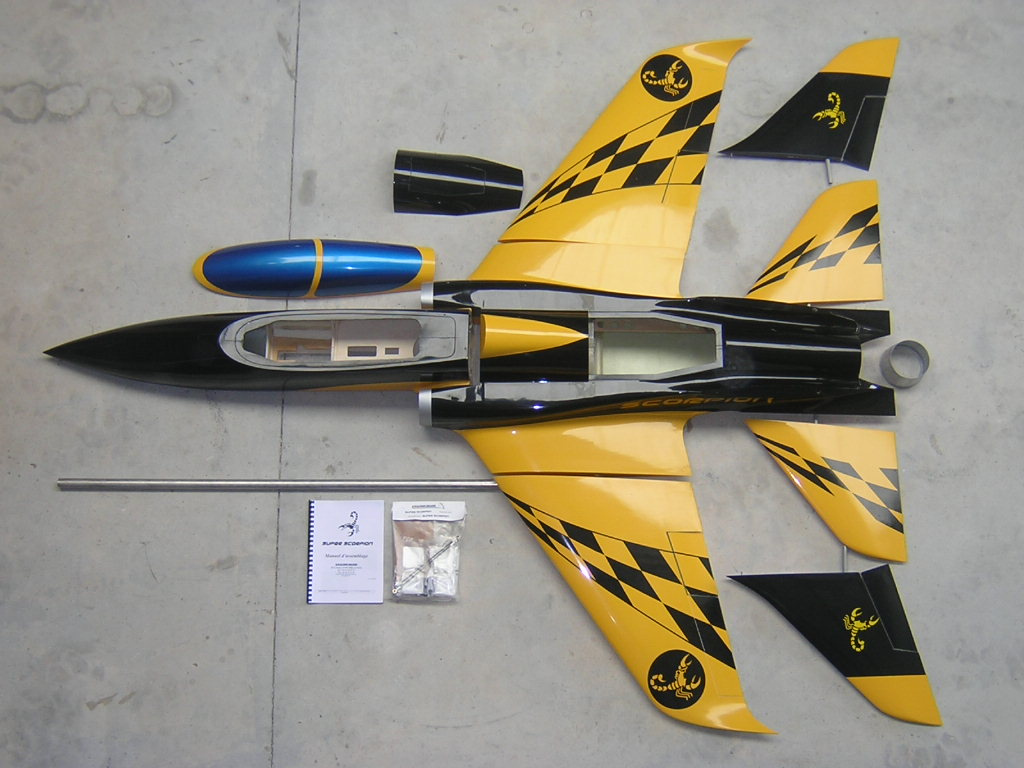 Super Scorpion ARF yellow/black Aviation Design